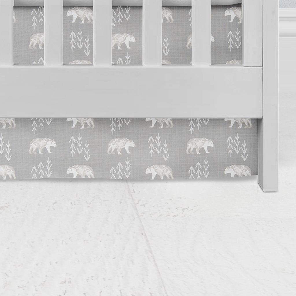 Cubby Bear Flat Panel Crib Skirt
