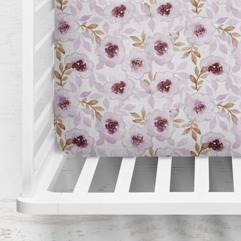 Cherish Floral Fitted Crib Sheet