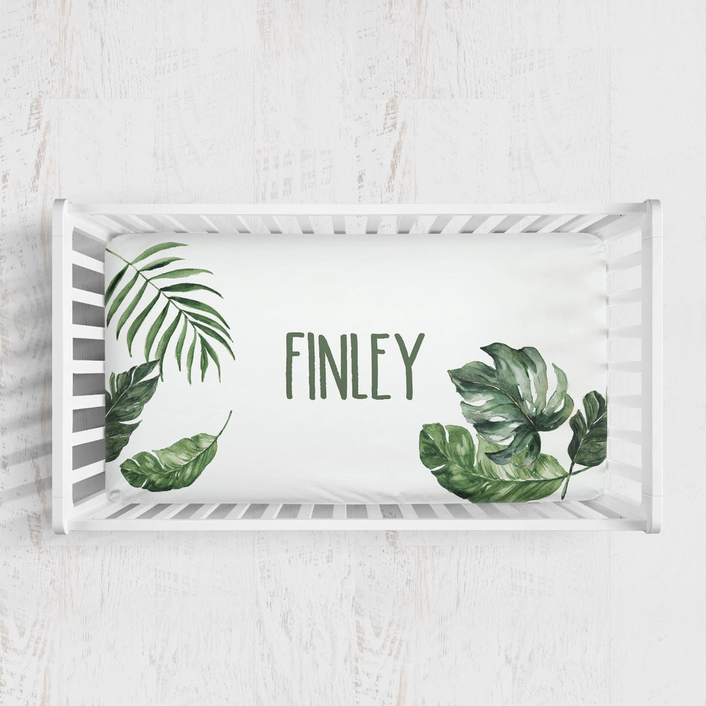 Finley's Forest Palm Crib Sheet