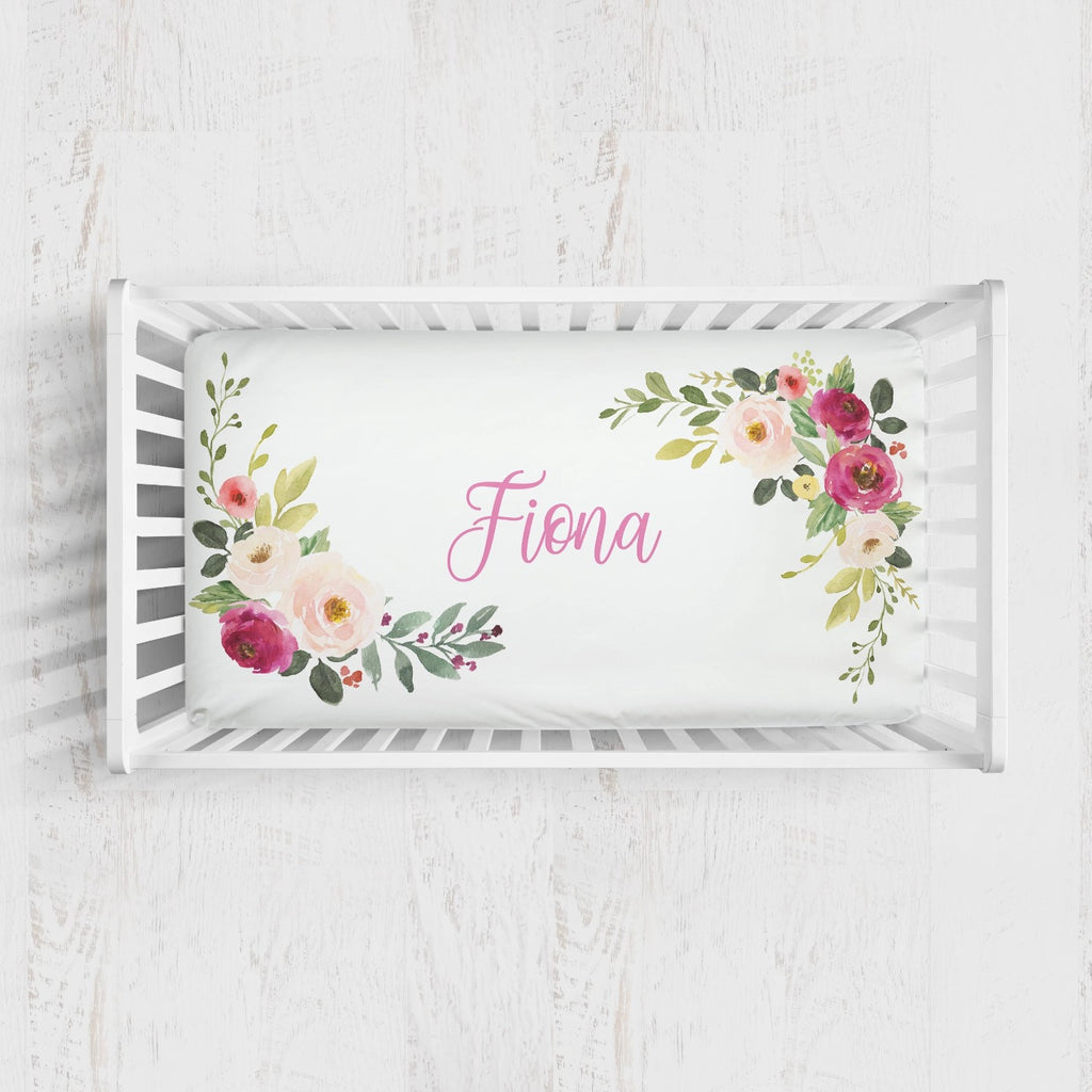 Fiona's Floral Bouquet Crib Sheet