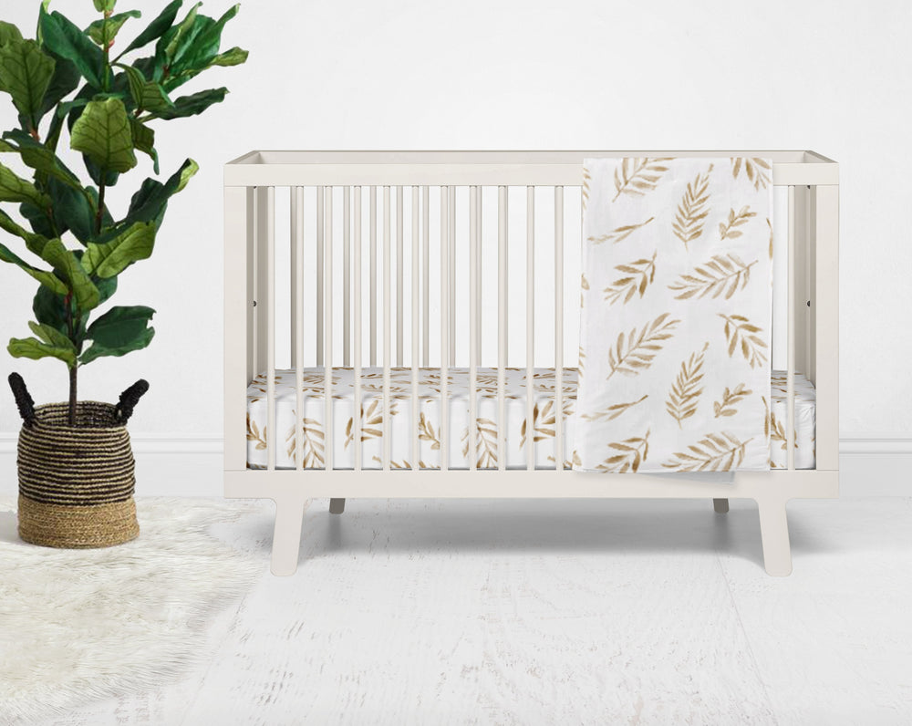 Gili's Golden Leaf Crib Bedding