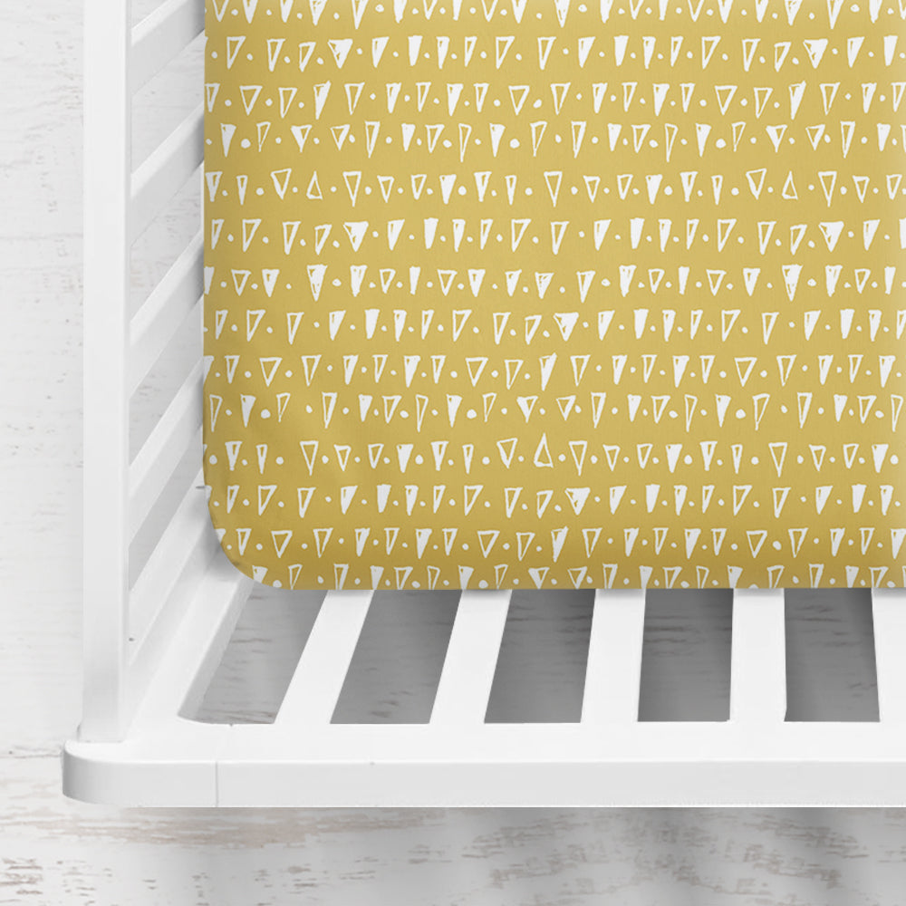 Golden Shards Organic Cotton Crib Sheet