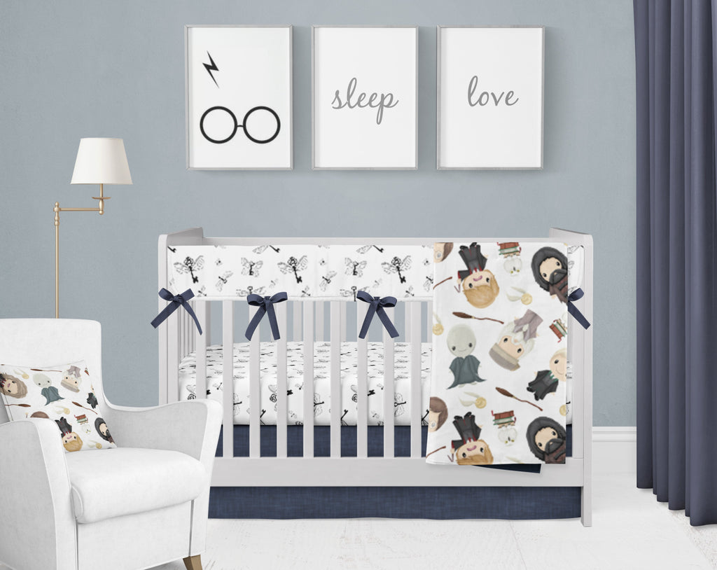Harry's Friends & Flying Keys Crib Bedding