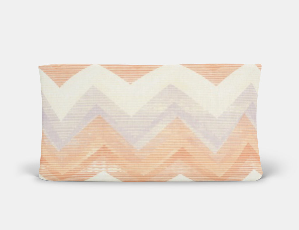 Melon Chevron Changing Pad Cover