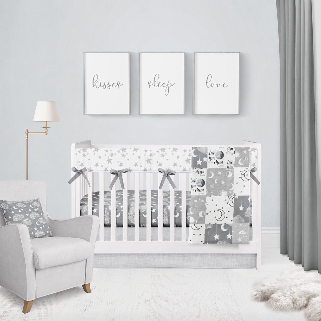Moon & Stars Crib Bedding