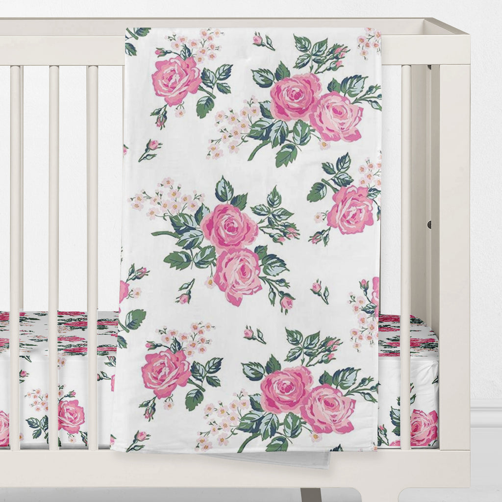 Riley's Rose Garden Crib Bedding