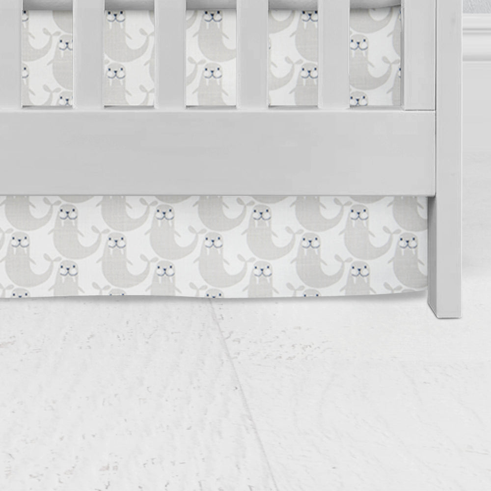 Grey Walrus Flat Panel Crib Skirt