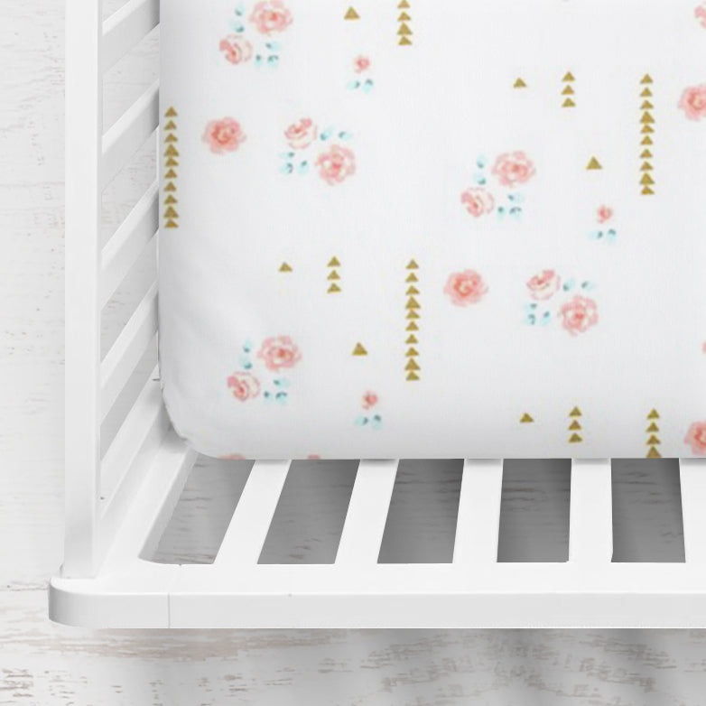 Rosemilk Fitted Crib Sheet