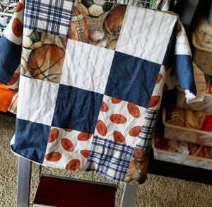 Vintage Football Crib Bedding