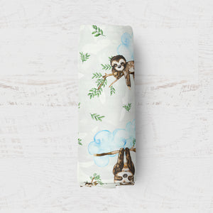 Sloth Day's in Tropics Newborn Swaddle