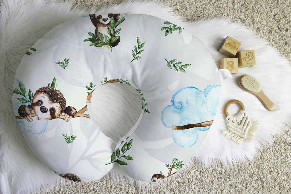 Sloth Days in Tropics Boppy® Nursing Pillow Cover