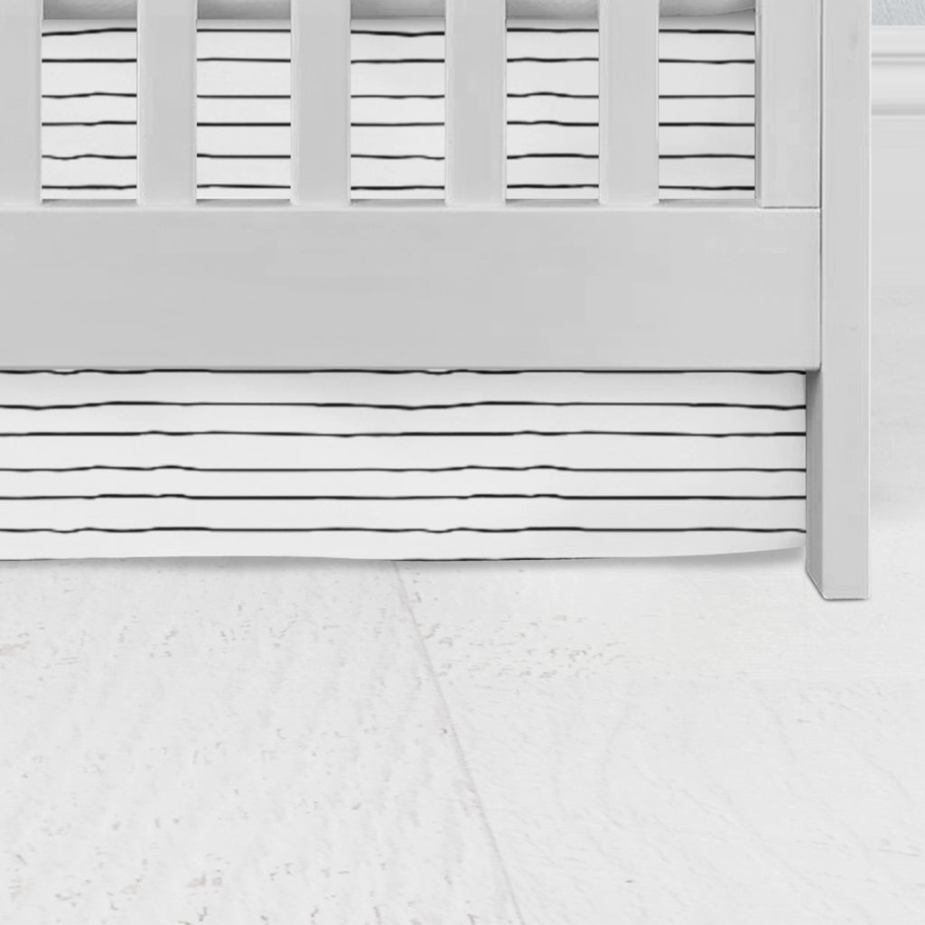Teagan's Trendy Line Crib Skirt