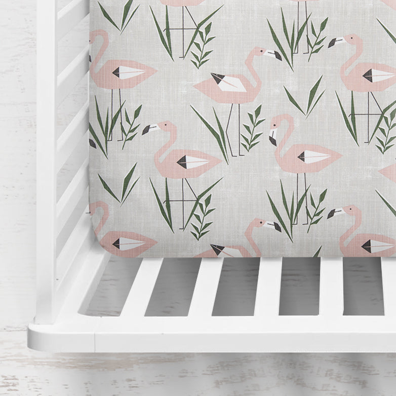Ringo Flamingo Crib Sheet