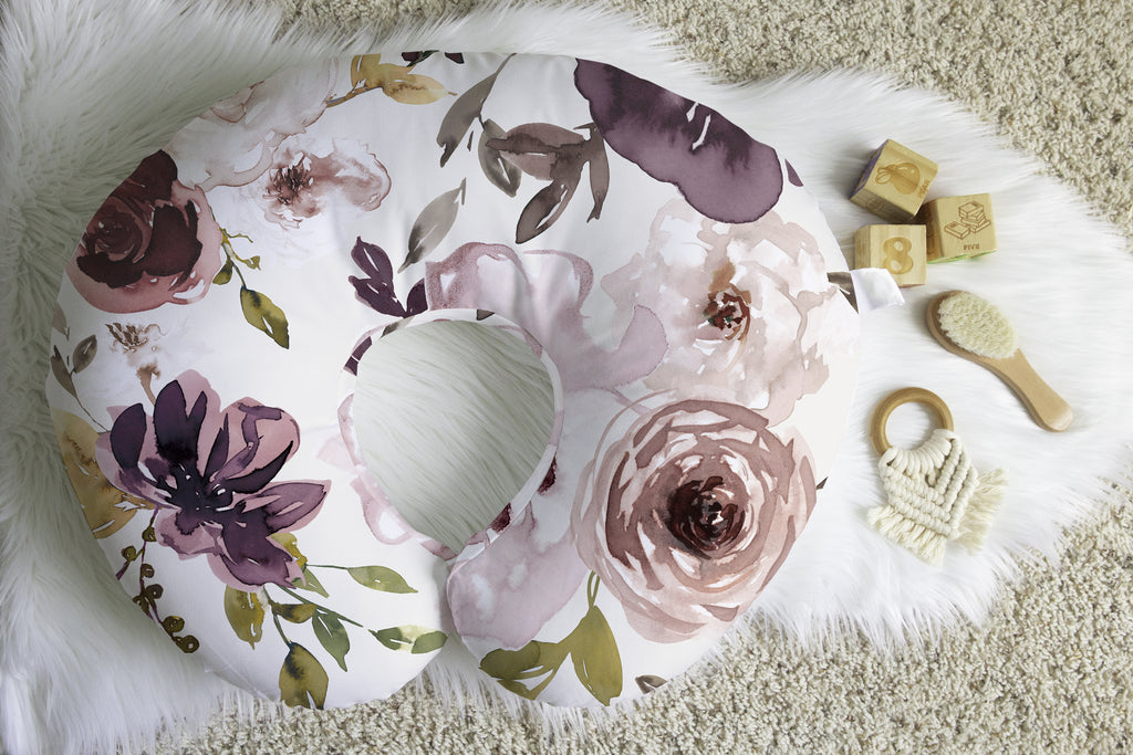 Chocolate Vanilla Floral Boppy® Nursing Pillow Cover