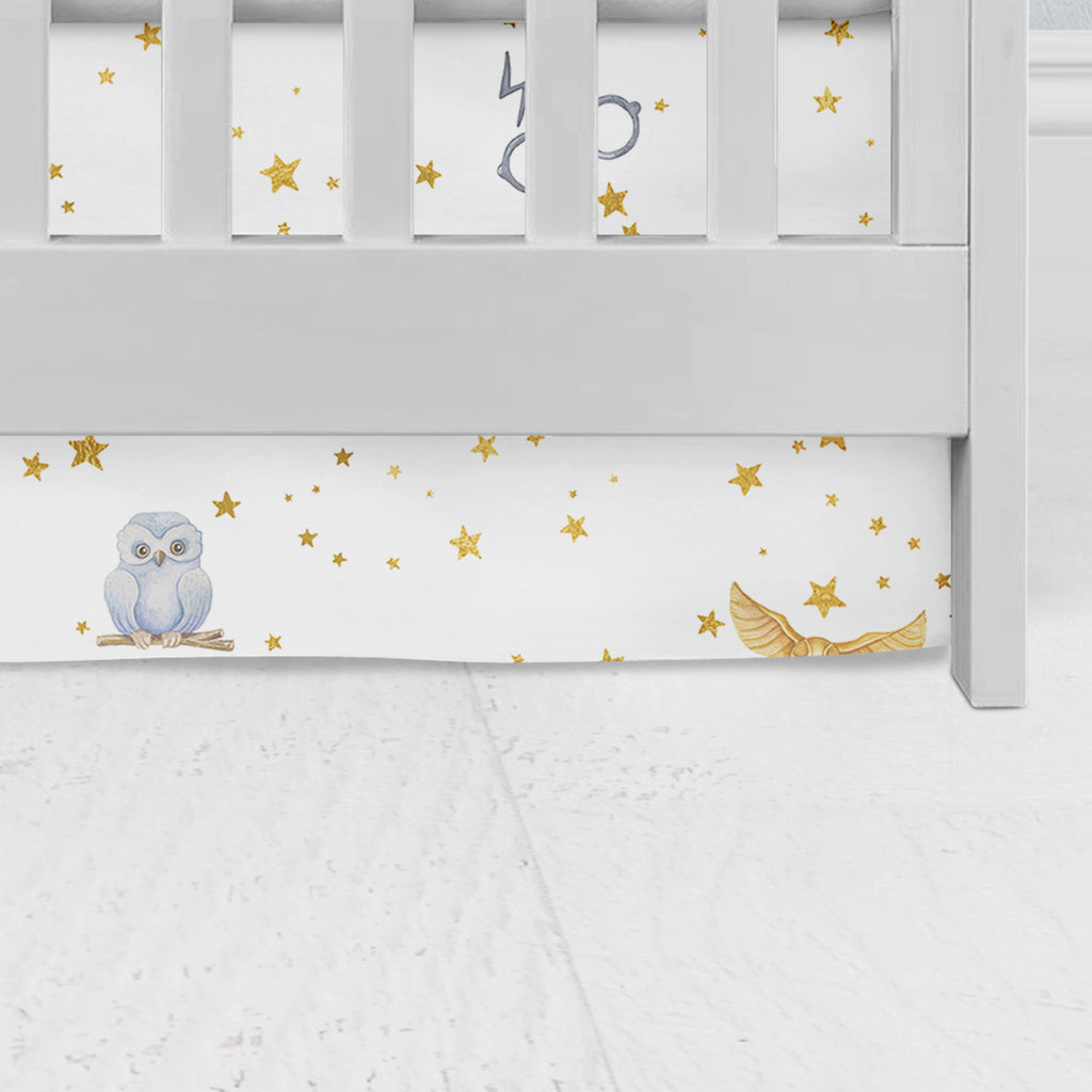 Golden Snitch Flat Panel Crib Skirt