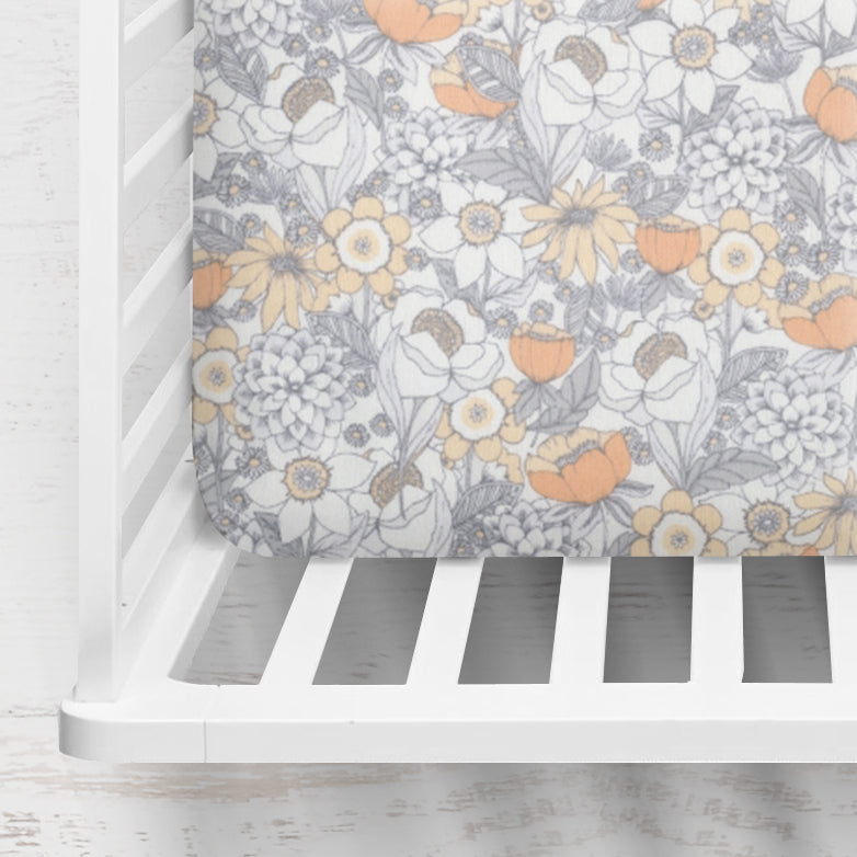 Mercer Floral Fitted Crib Sheet