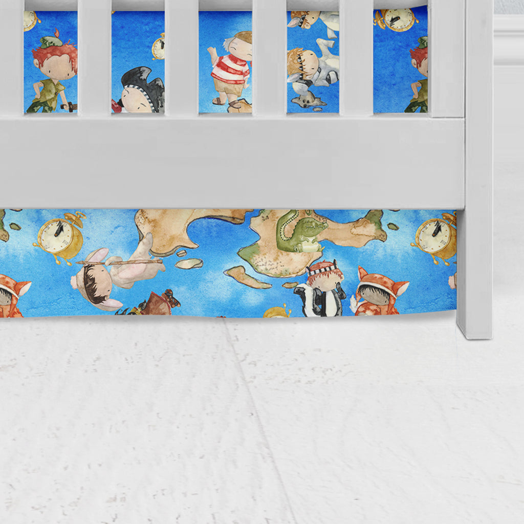 Neverland Adventures Crib Skirt