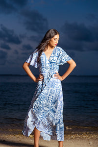 Koko Pacific Demi Wrap Dress -  A Must Have!