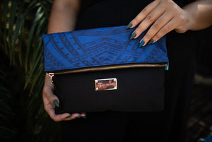 Koko Pacific Foldover Clutch - Blue