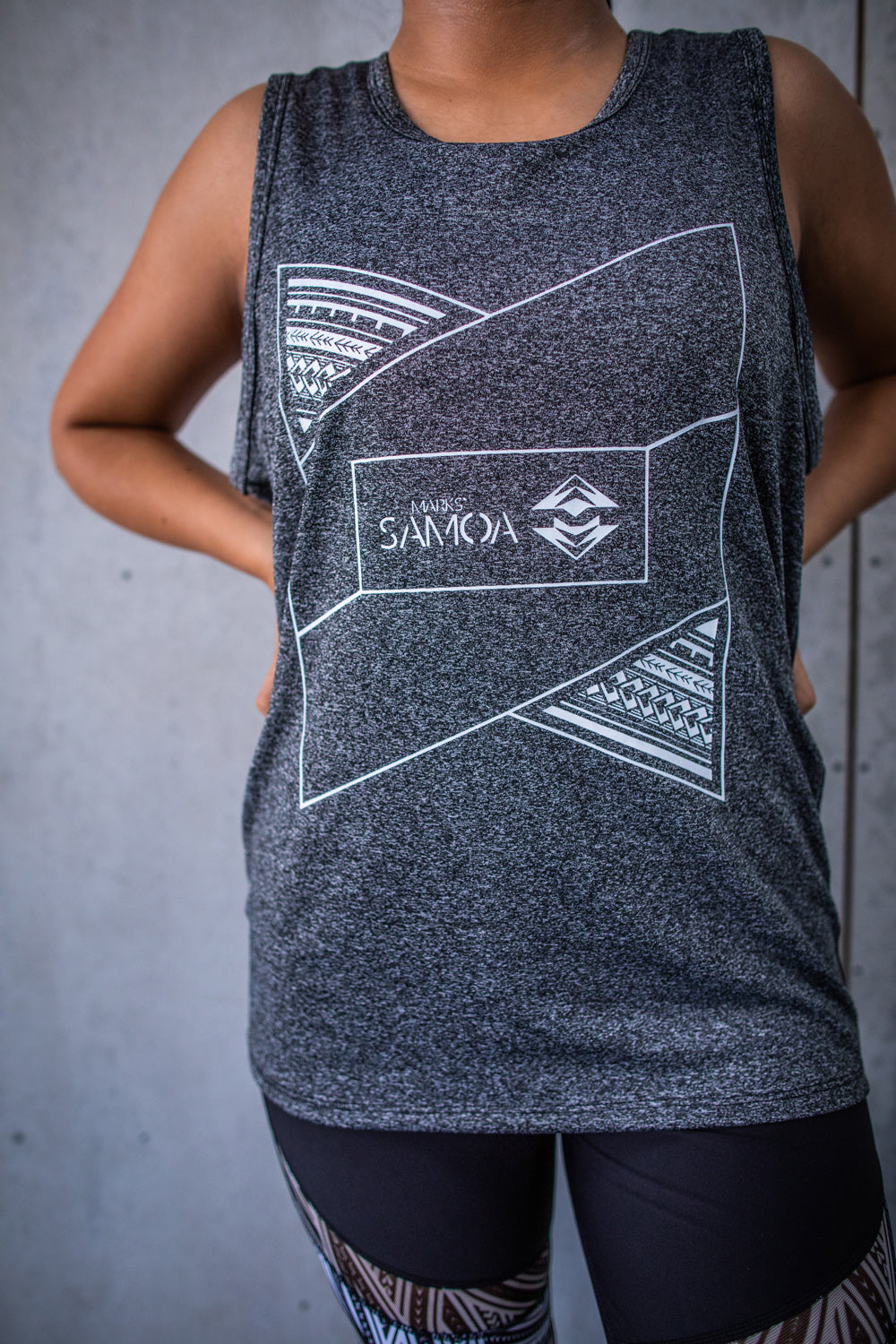 Marks` Samoa Vest INverted - Charcoal