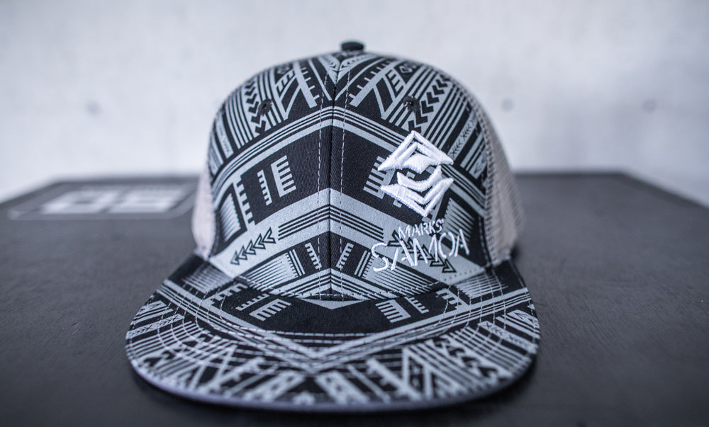 Marks` Samoa Trucker Core Logo Cap - Grey/Black