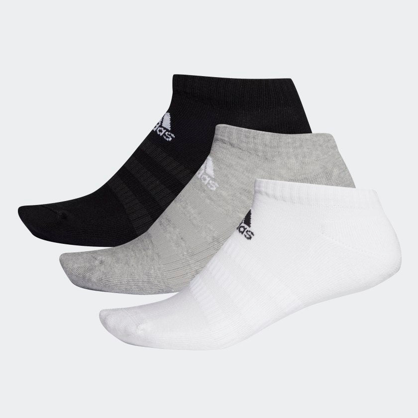ADIDAS CUSHIONED LOW CUT SOCKS 3PP - GRY/WHT/BLK