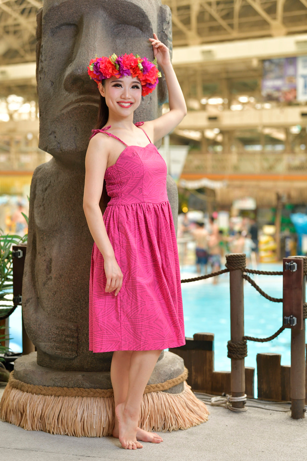 Eveni Pacific Ladies Summer Dress - Pink Burst