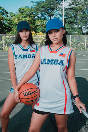 SAMOA62 Original Basketball Jersey - White/RB