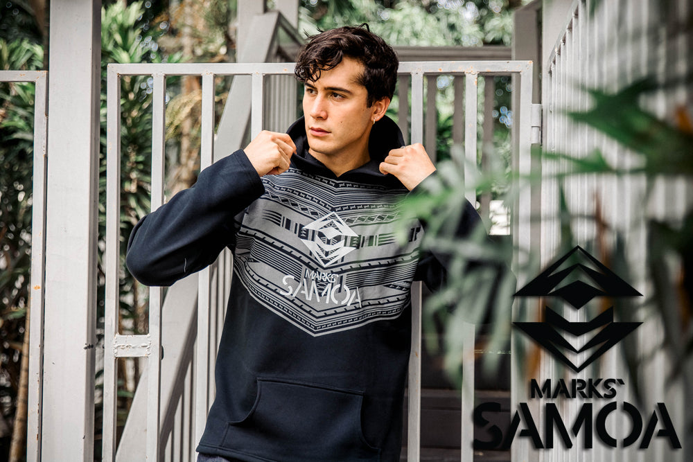 Marks` Samoa Core Logo Hoodie - Pitch Black