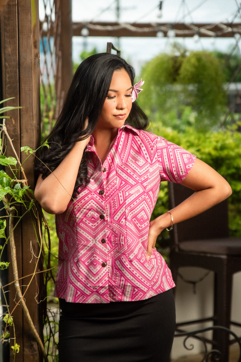 Eveni Pacific Ladies Blouse - Love Potion