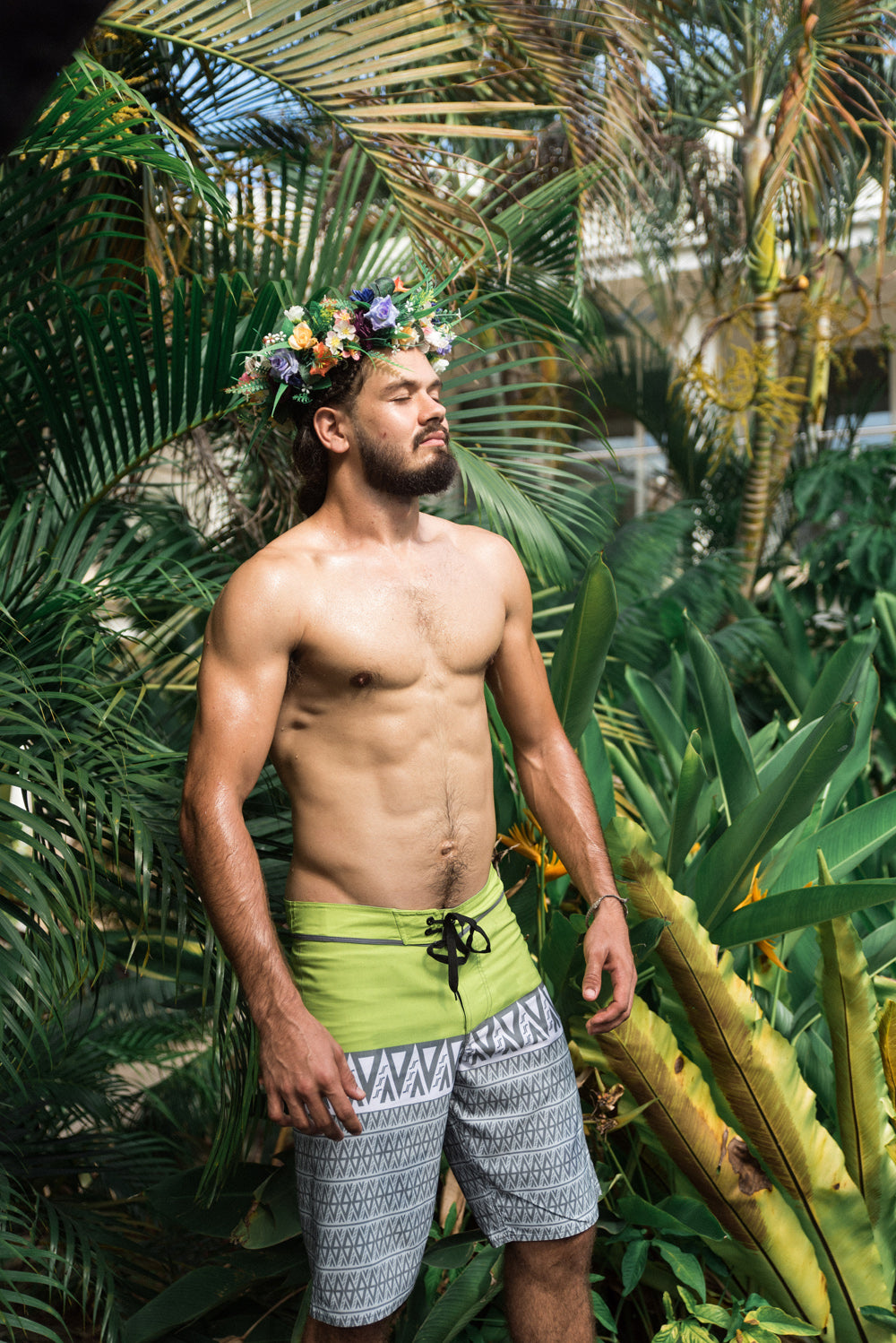 KP|Surf Board Shorts by Koko Pacific - Lime