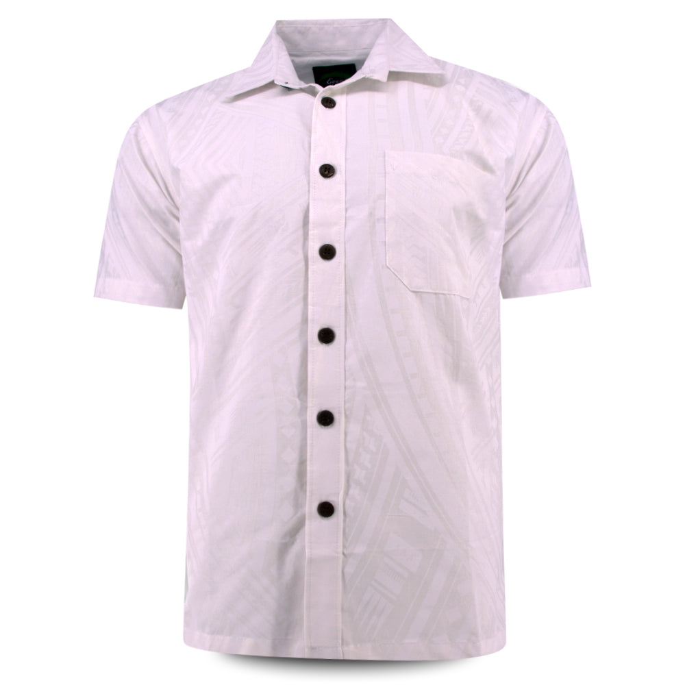 Eveni Pacific Men's Classic Shirt - White Bliss