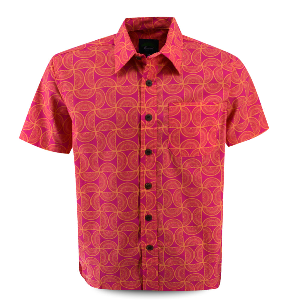 Eveni Pacific Men's Classic Shirt - Swirly Pink