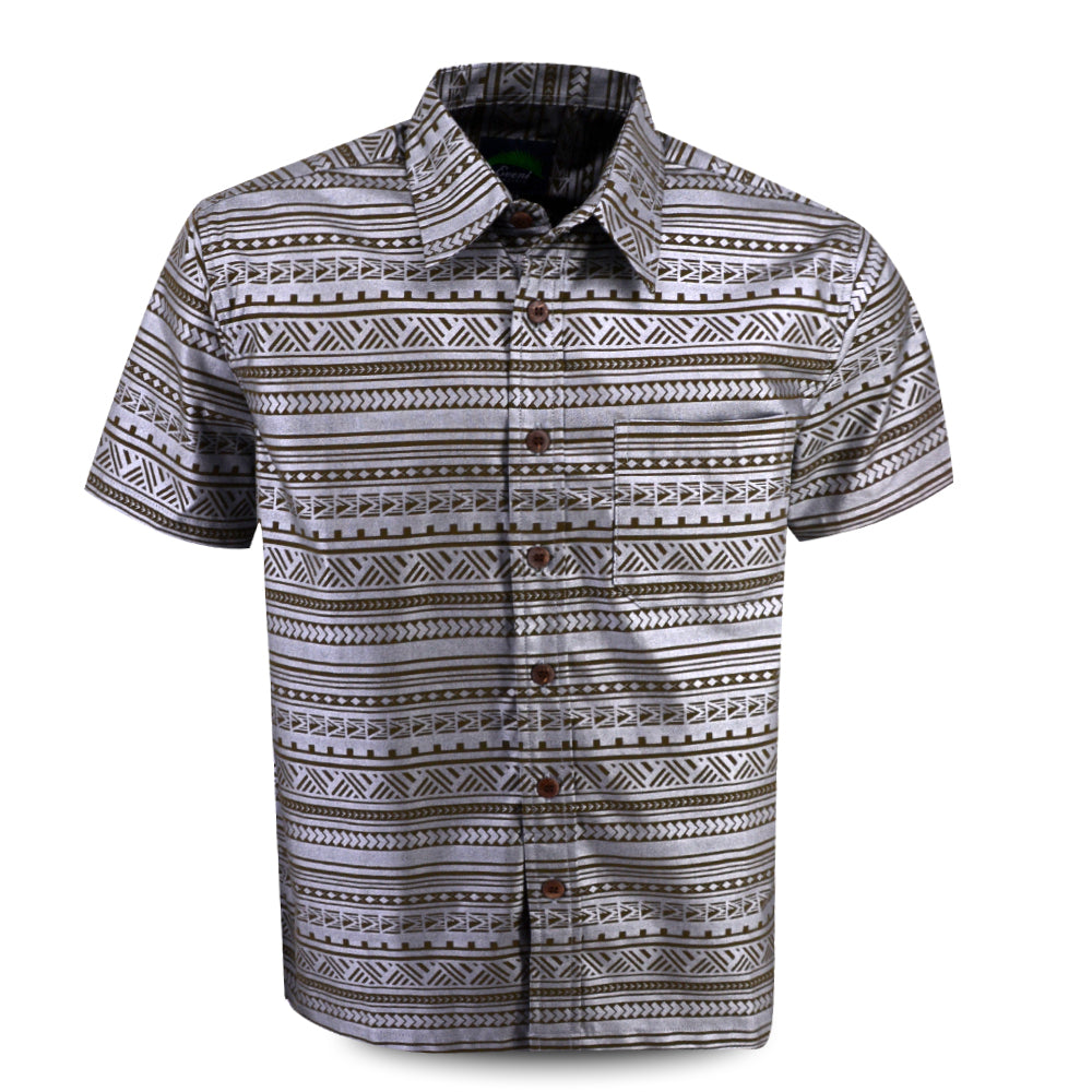 Eveni Pacific Men's Premium Metallic Shirt - Iron Ice