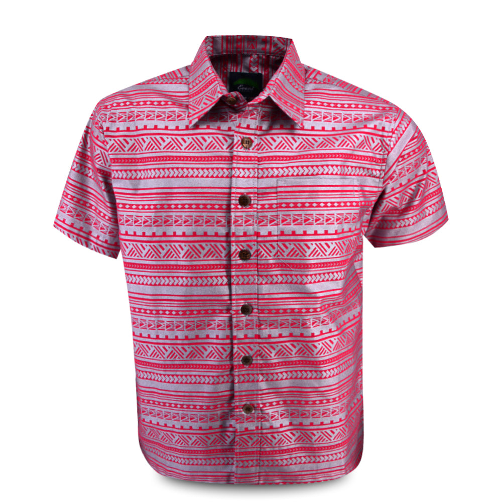 Eveni Pacific Men's Premium Metallic Shirt - Tea Rose Ice