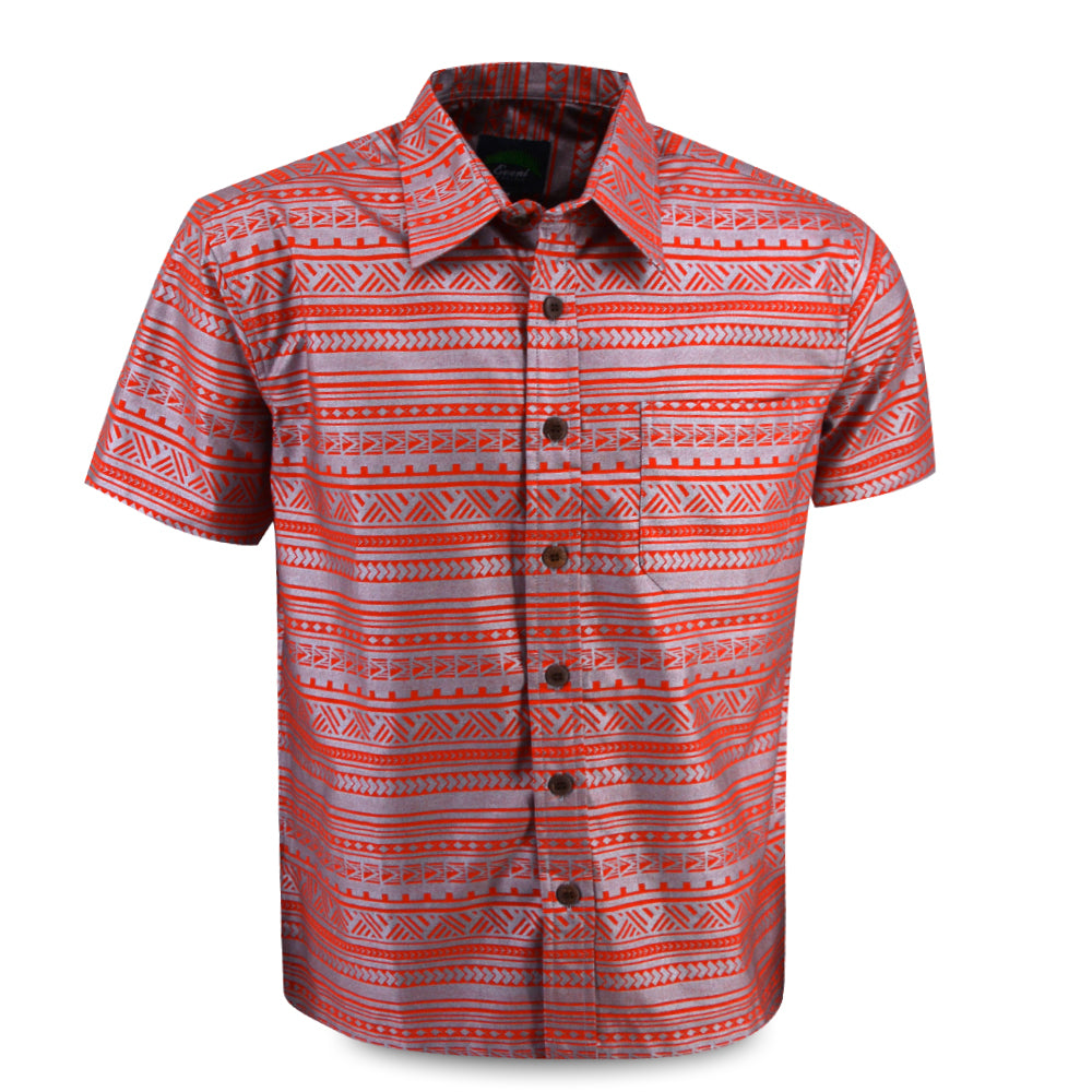 Eveni Pacific Men's Premium Metallic Shirt - Jaffa Ice