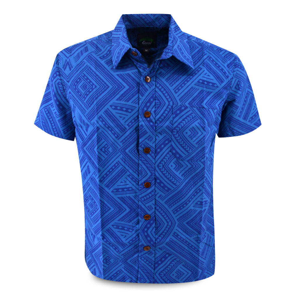 Eveni Pacific Men's Classic Shirt - Blue Print