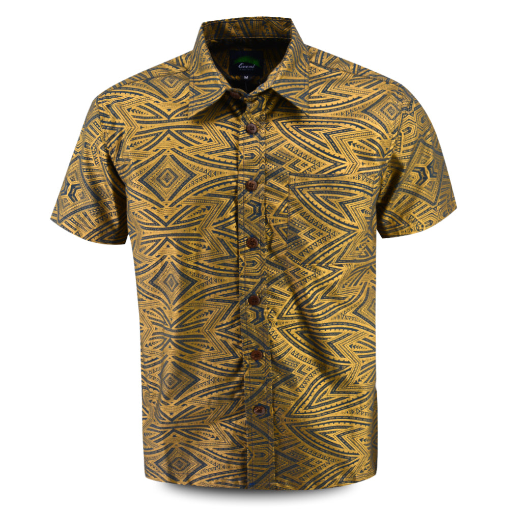 Eveni Pacific Men's Premium Metallic Shirt - Hydro Metallic
