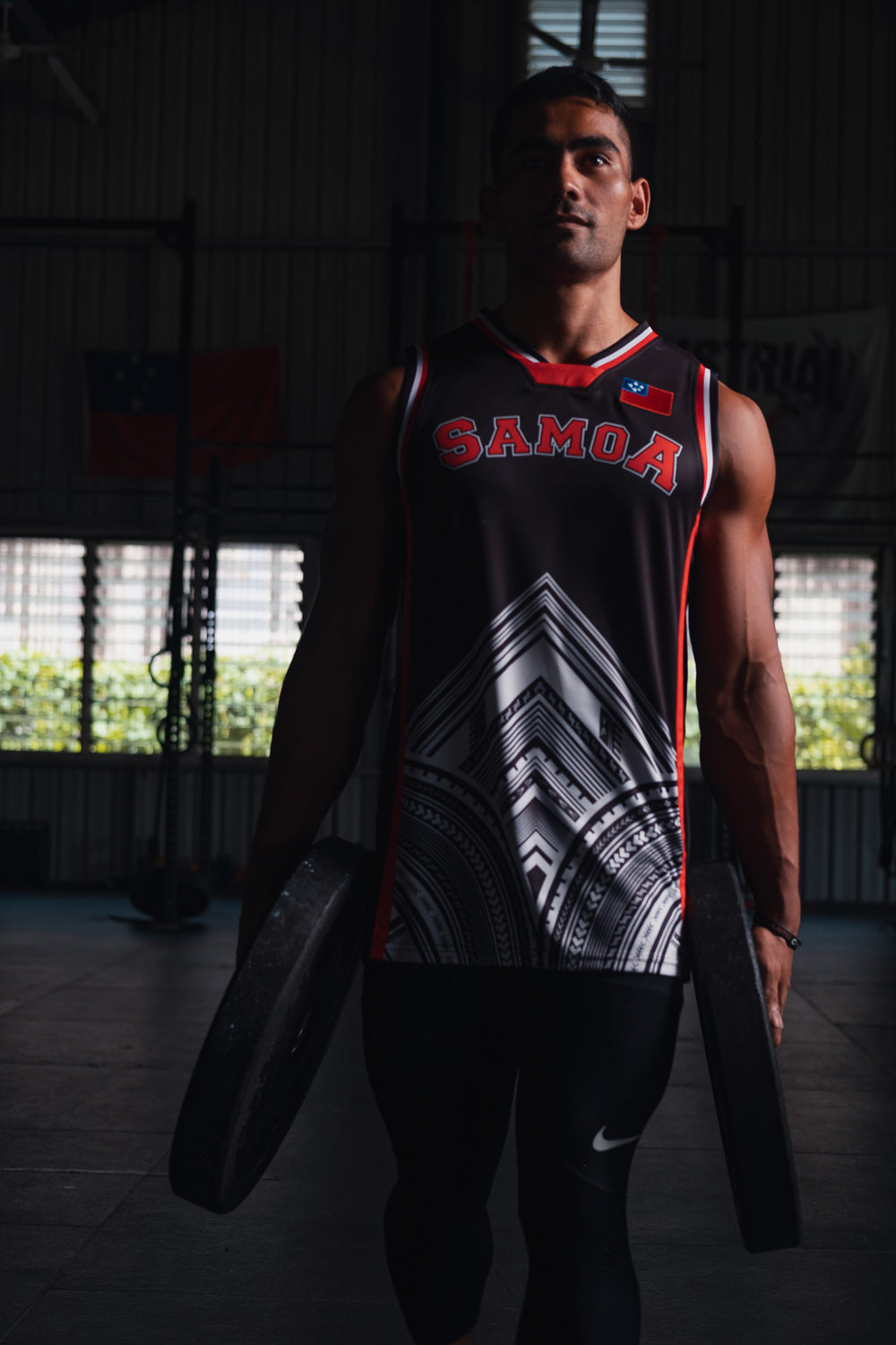 SAMOA62 Original Basketball Jersey - Black/White
