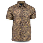 Eveni Pacific Men's Premium Metallic Shirt - Phantom Gold