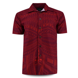 Eveni Pacific Men's Classic Shirt - Rosemary Red