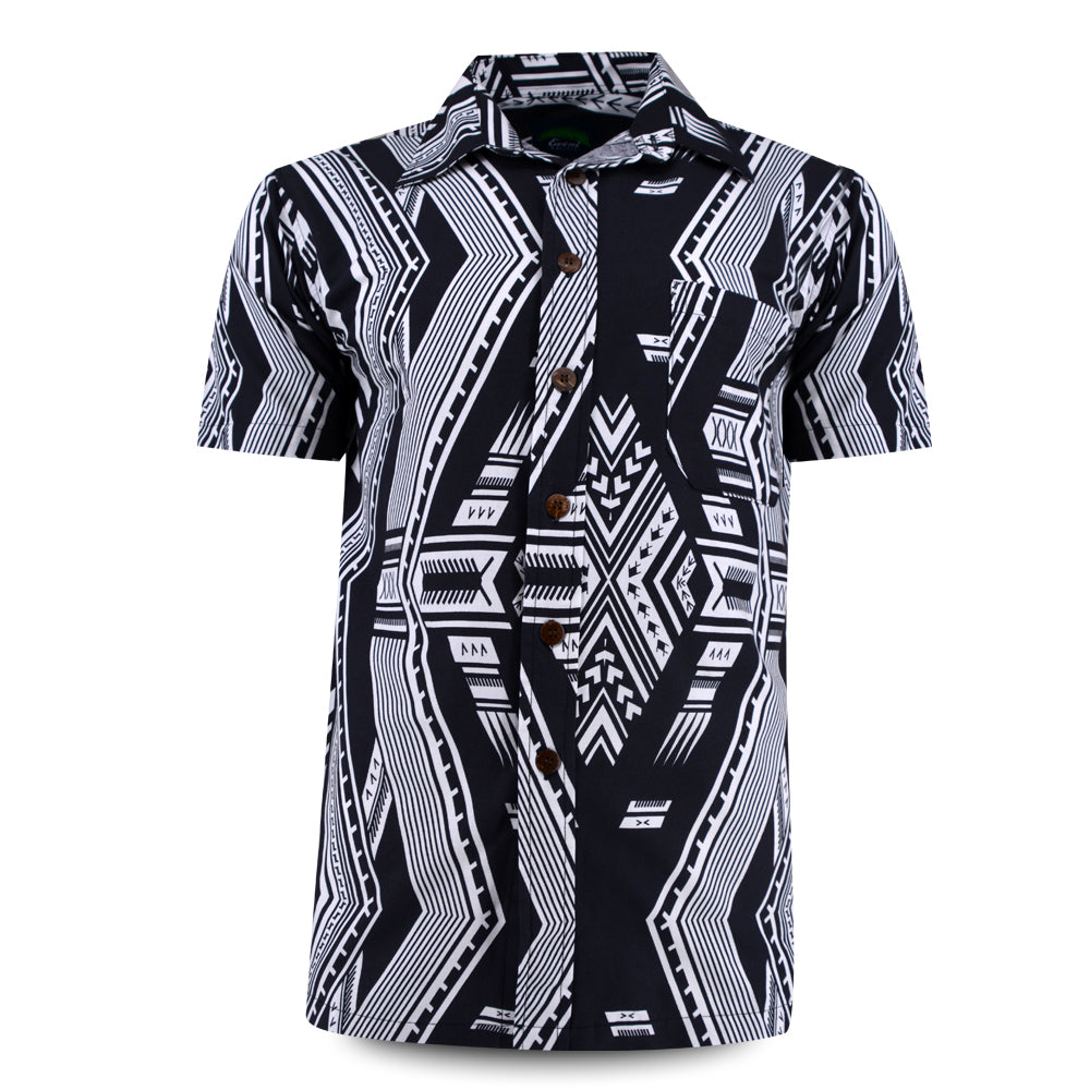 Eveni Pacific Men's Classic Shirt - Zebra Black