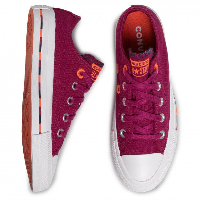 CONVERSE CHUCK TAYLOR ALL STAR PINSTRIPE ROSE MAROON