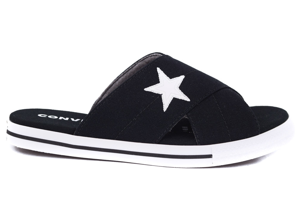 CONVERSE ONE STAR SLIDE SLIP BLACK
