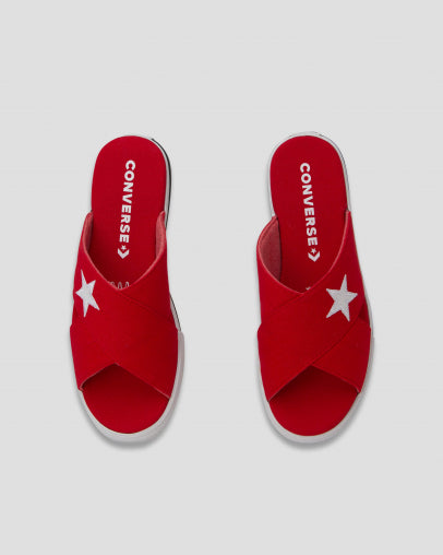 CONVERSE ONE STAR CNVS SANDAL RED