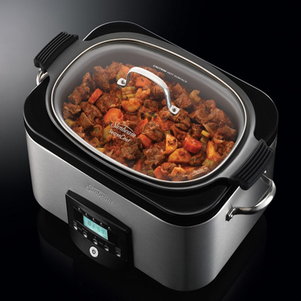 SUNBEAM SECRETCHEF ELECTRONIC SEAR AND SLOW COOKER 5.5L