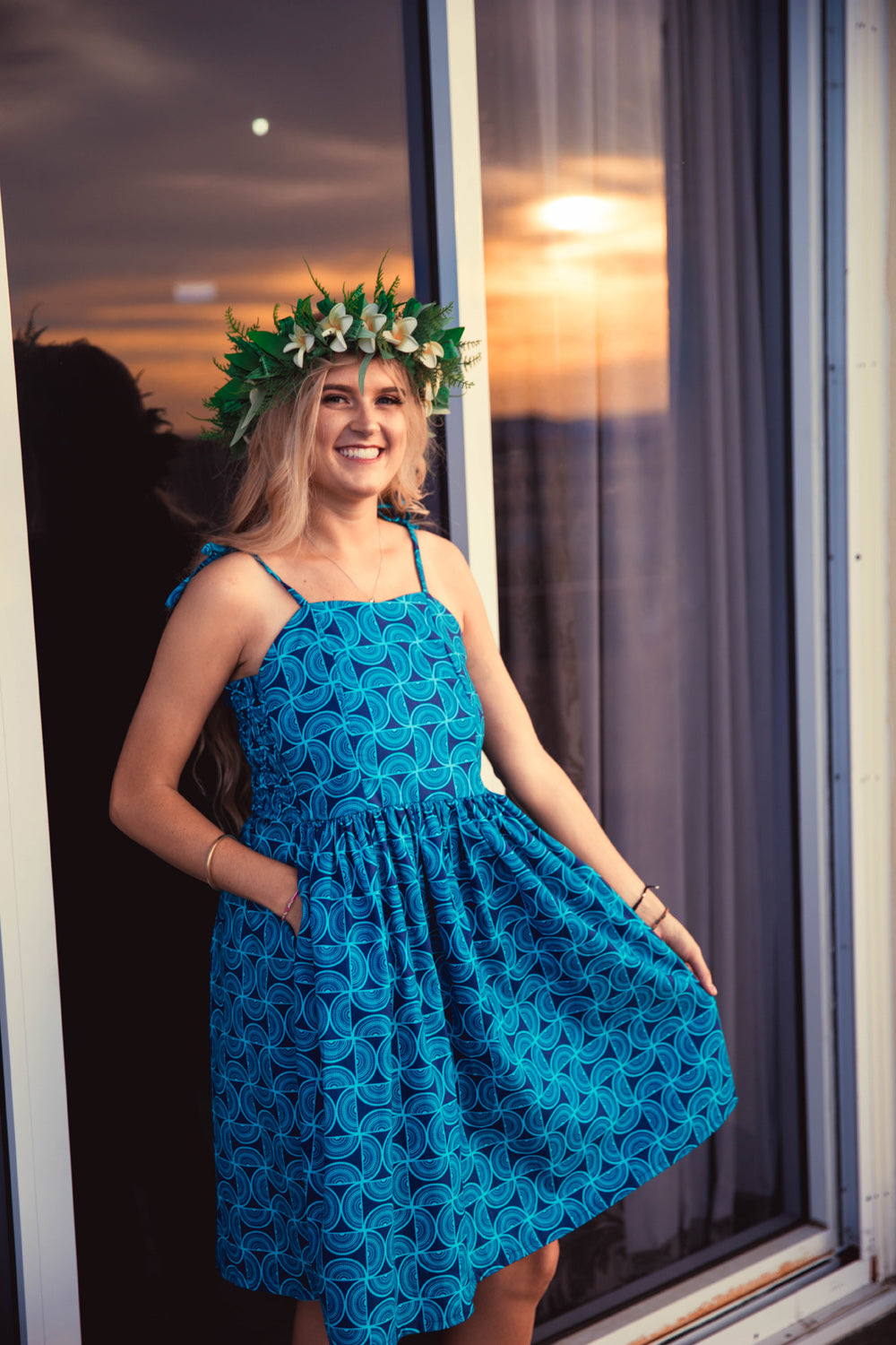 Eveni Pacific Ladies Summer Dress - Dragonfly Blue