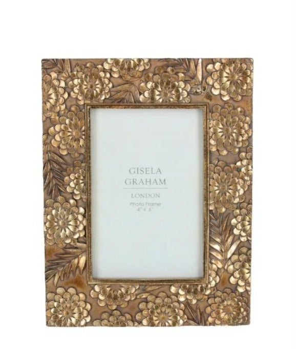 Gold flower picture frame | Picture Frame | [product-description]