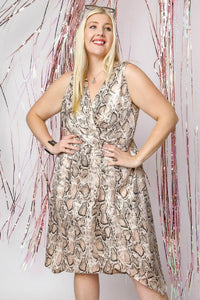 snake print Wrap Dress | Dress | [product-description]