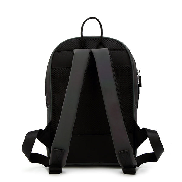 Luminescent Matte Black Triangles Backpack